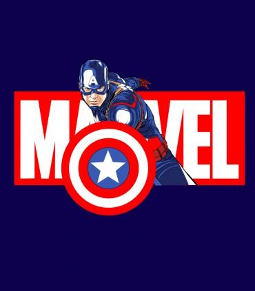 Camiseta TYS Manga Corta  Capitán América Superheroes Marvel