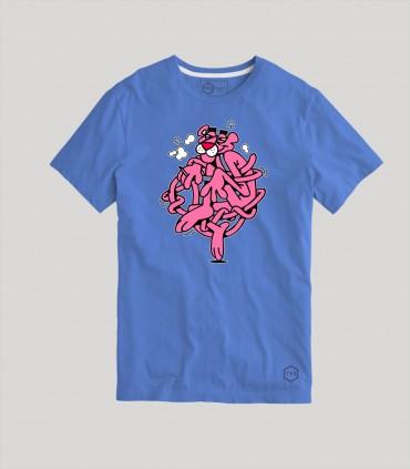Camiseta TYS Manga Corta Pantera Rosa Dibujo Animado