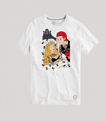 Camiseta TYS unisex manga corta Princesas Disney Príncipe Tattoo